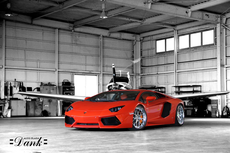 Lamborghini Aventador Fotted with 21'' HF C7 Poloished