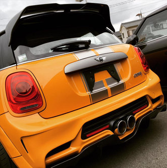 DuelL AG F56 Rear Hatch Spoiler & Diffuser