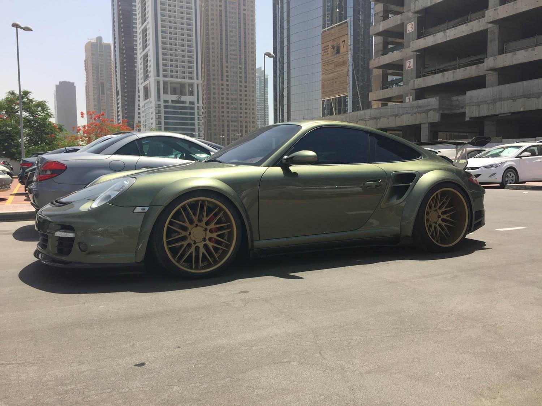 Porsche 997 Turbo Wide Body side