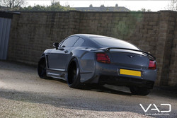 Premier 4509 wide body Bentley GT fitted with 22'' VAD VF1