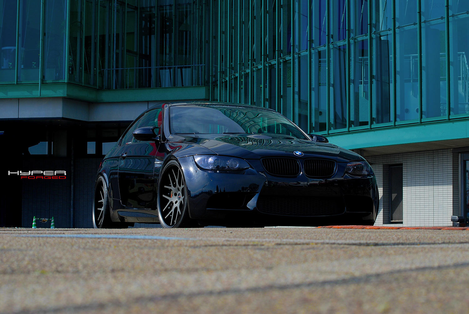 BMW E46 M3 fitted with 20'' HFC7 Black