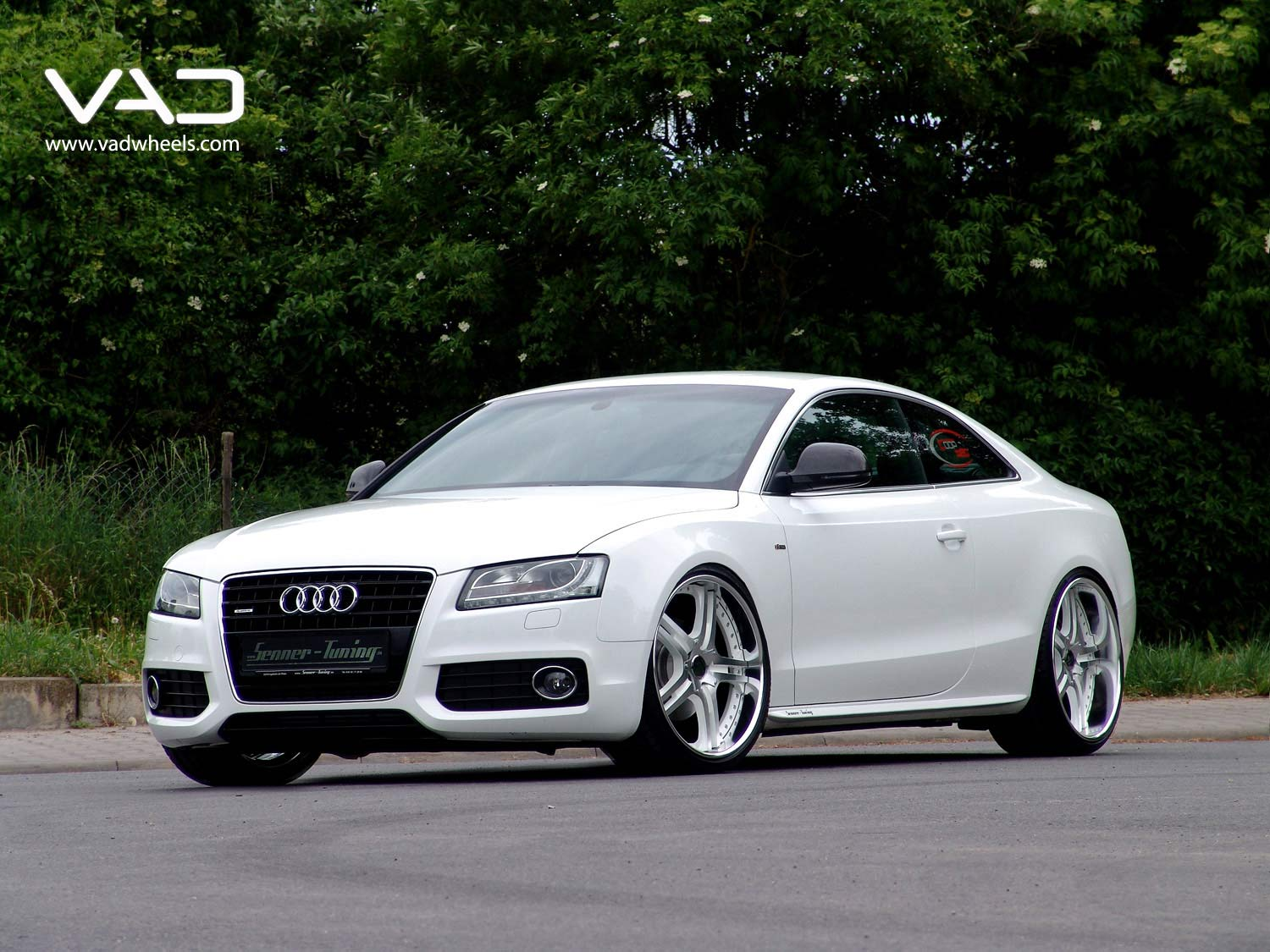 Audi-A5-21''-S250-White-&-Polished-Front-Shot
