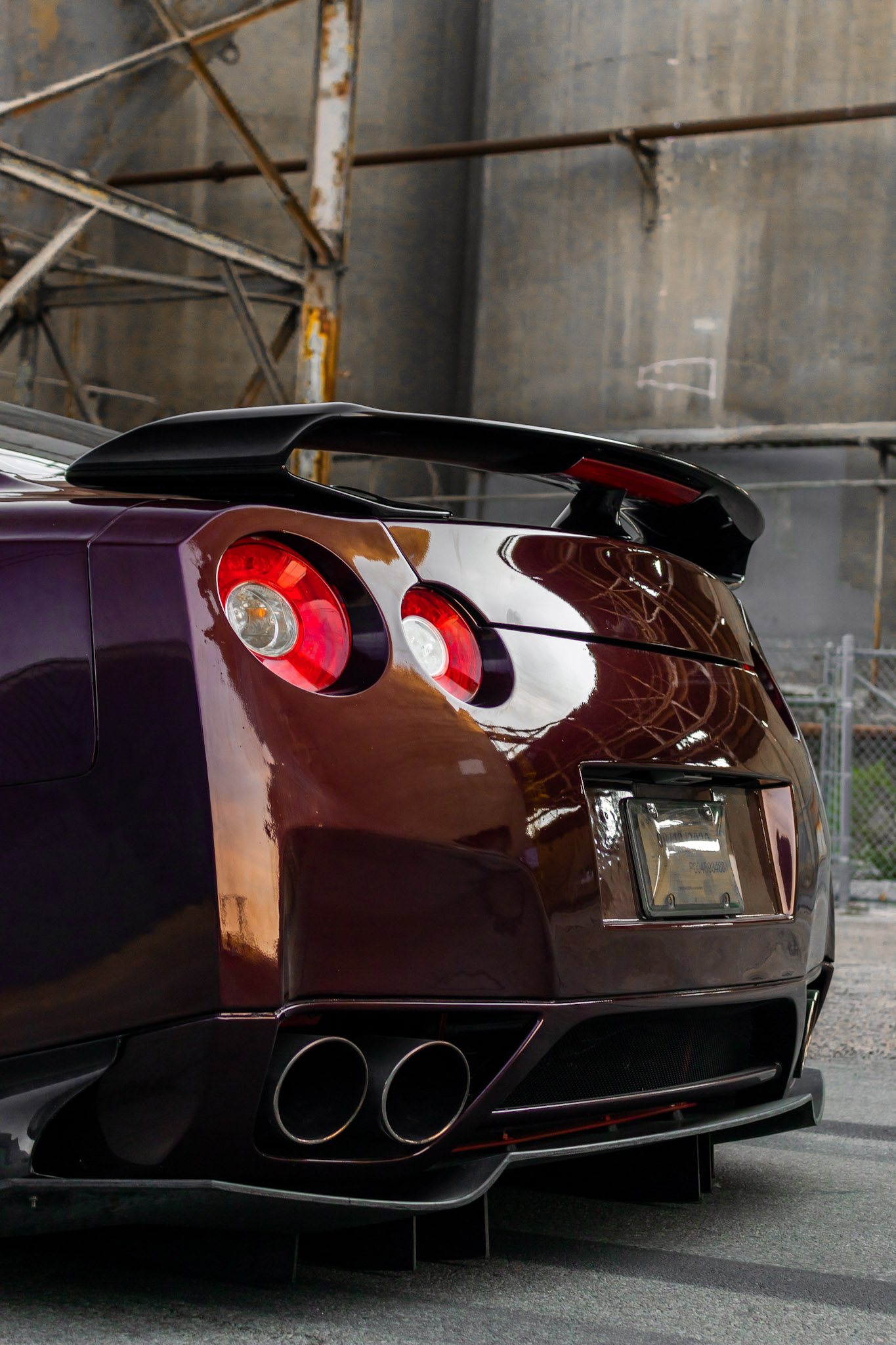 Nissan GTR GT3 Didffuser and canards