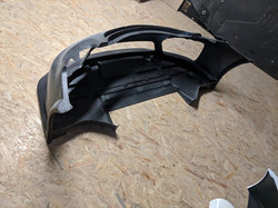 Cayman R  floor and front bumper
