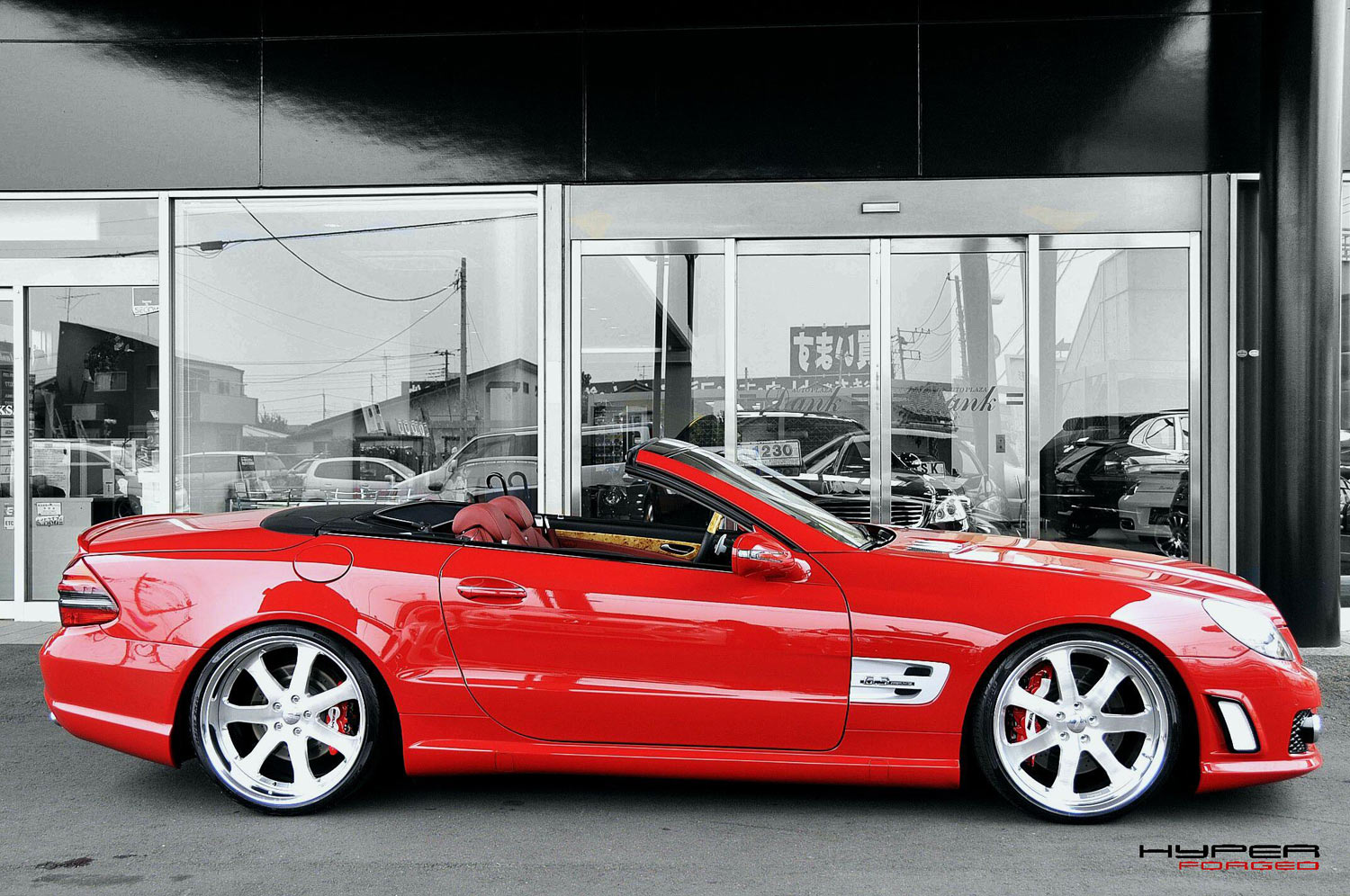 Mercedes SL Fitted with 20'' HF_CF27S