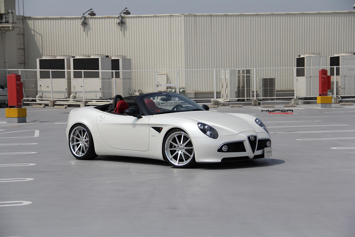 Alfa Romeo 8C Competizione Spider fitted with 21'' HFC10 Polished
