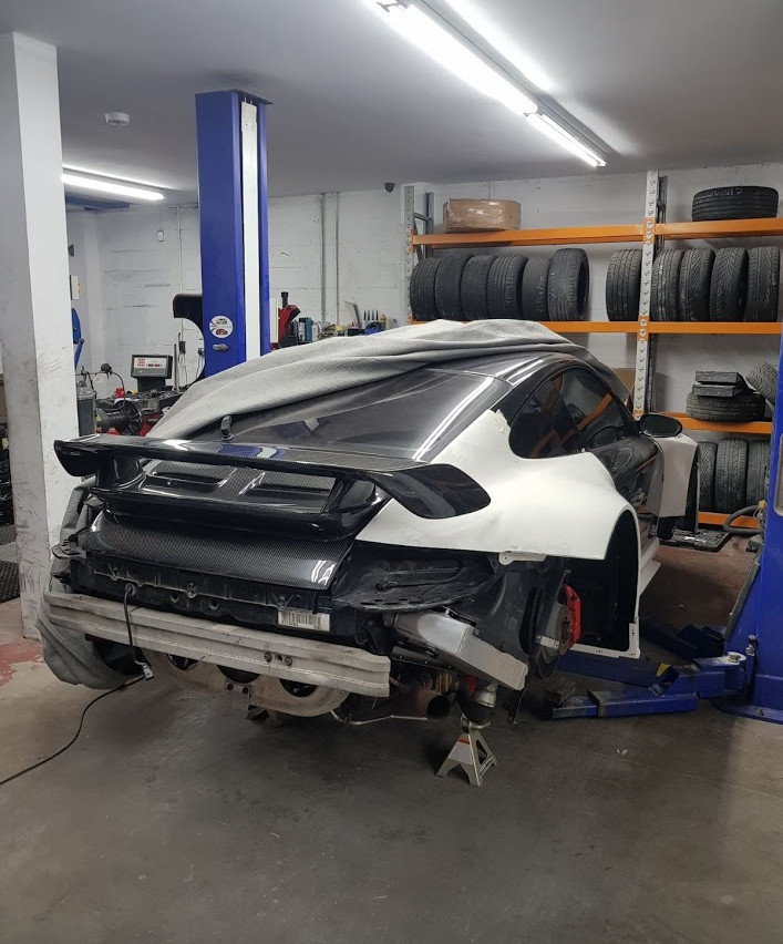 Speedwells_ Porsche 997 Turbo Rear Quarter GT3R Mock Up