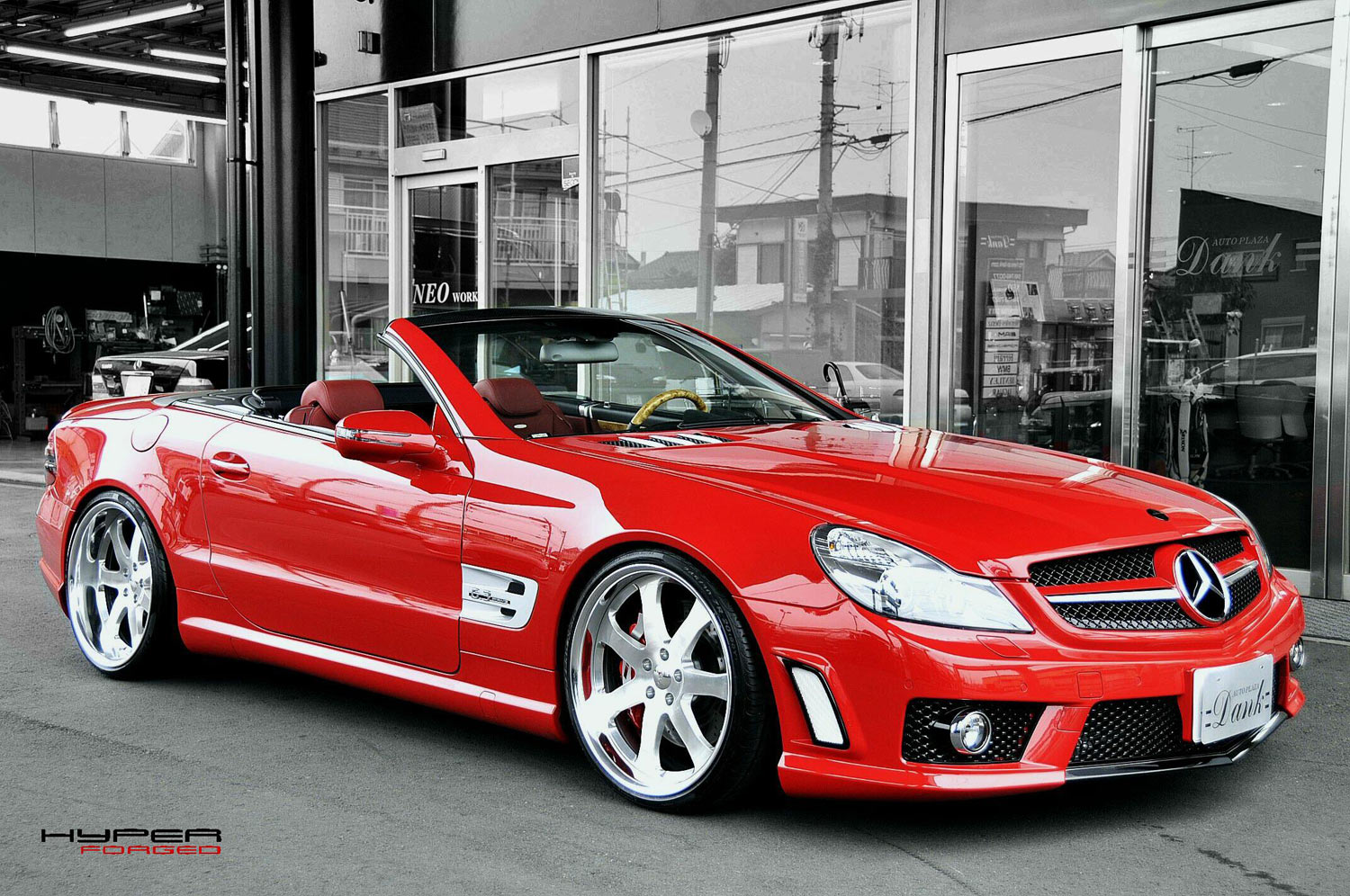 Mercedes SL Fitted with 20'' HF_CF27S Brushed