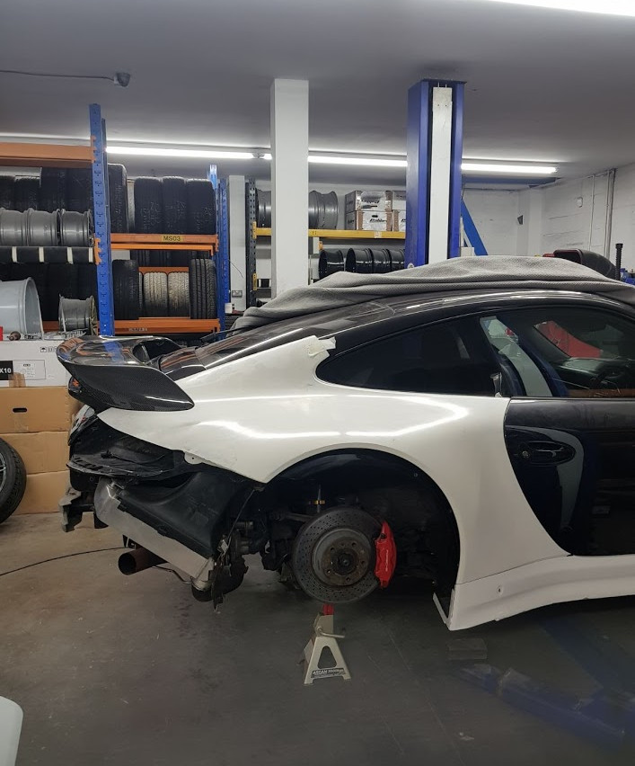 Speedwells_ Porsche 997 Turbo Rear Quarter and sill GT3R Mock Up
