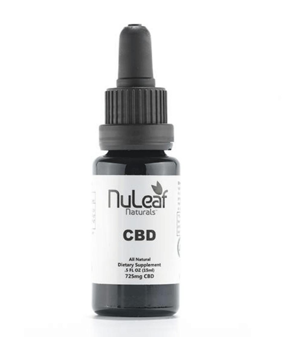 NuLeaf Naturals 725mg Full Spectrum CBD Oil High Grade Hemp Extract