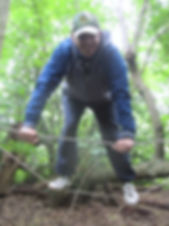 playing on the ropes at Forest School