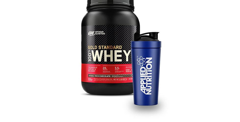 15%OFF Optimum Nutrition Whey & Shaker Bundle
