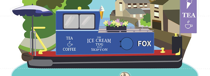 The Ice Cream Tug Boat FOX - Post Card
