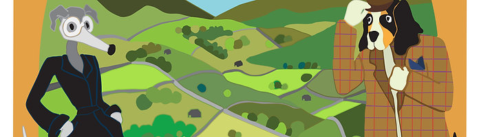 DOGS' DALES - DALES - Postcard