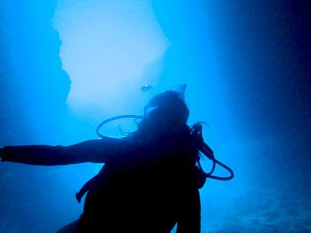 初めての水中世界はどんなかな