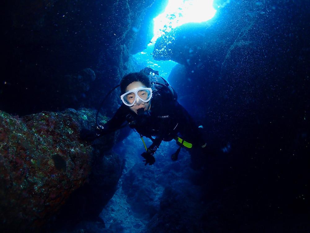 Advanced open water diver okinawa onnason
