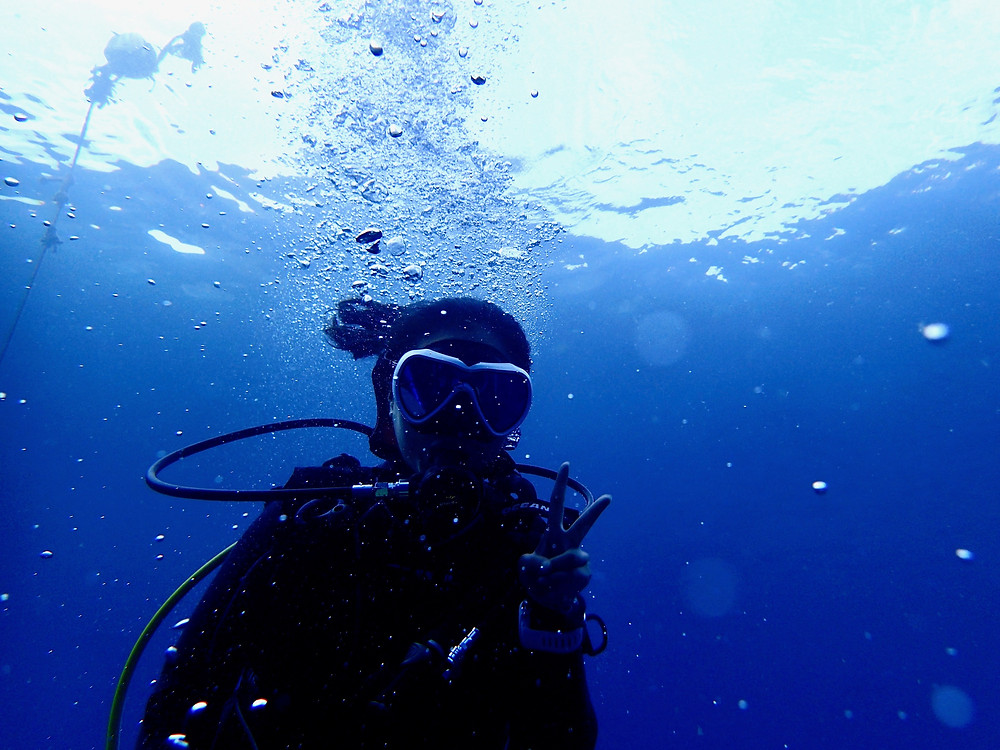 恩納村青の洞窟ファンダイビング体験ダイビング