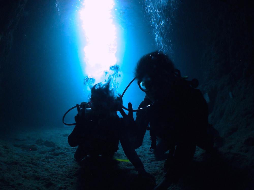 恩納村青の洞窟体験ダイビング