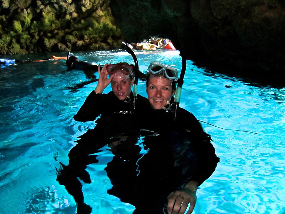 Blue cave coral garden