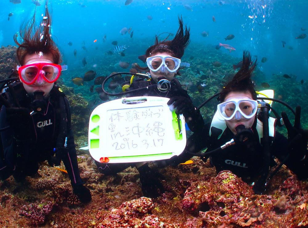 沖縄恩納村体験ダイビング青の洞窟