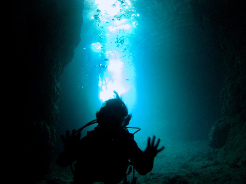 恩納村ジンベエ万座青の洞窟ダイビング