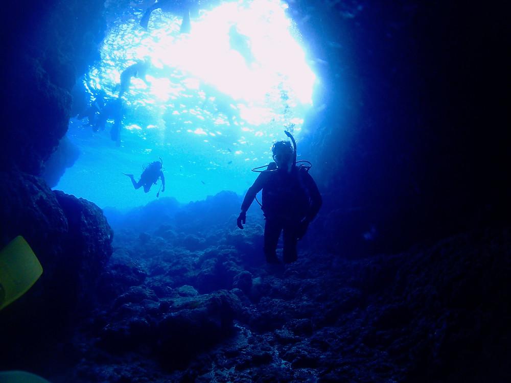 オープンウォーターダイバー講習青の洞窟