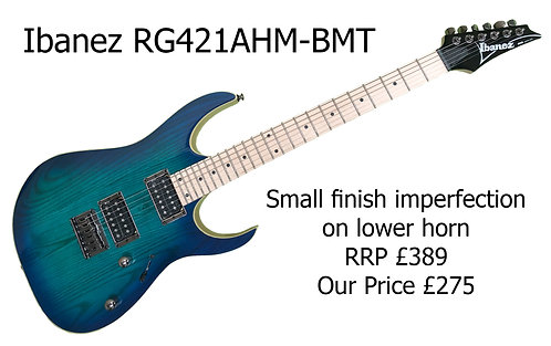 Ibanez RG421AHM-BMT  -  Lower Horn Imperfection   29714H