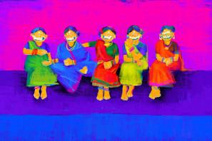 Khi Khi Khi, pigment print on canvas, size variable, Siddharth Choudhary 2018