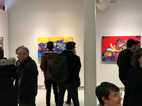Opening of Siddharth Choudhary's current exhibition at Howard Yezerski Gallery, Boston