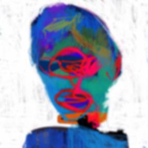 Siddharth Choudharys digital drawing of self portrait