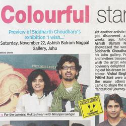 """Colourful start"", DNA, Mumbai,"