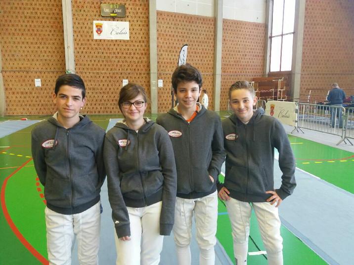 La team Garzelle championne régionale M14.