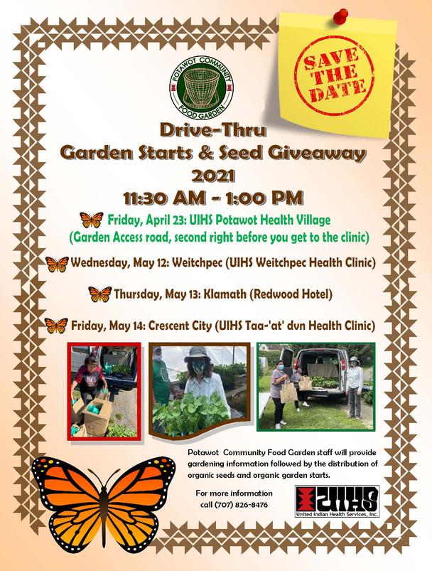 Drive-Thru Garden Starts & Seed Giveaway 2021