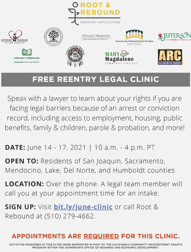 Free Reentry Legal Clinic