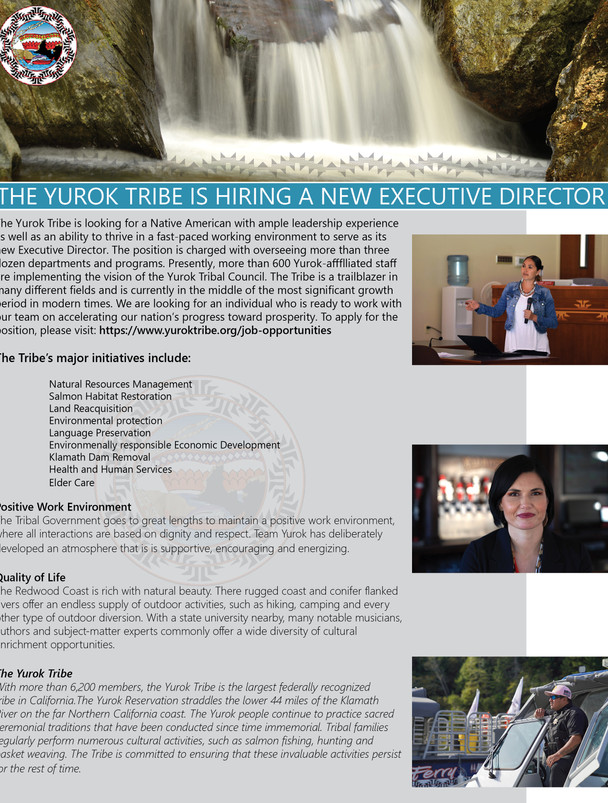The Yurok Tribe is Hiring a new Executive Director
