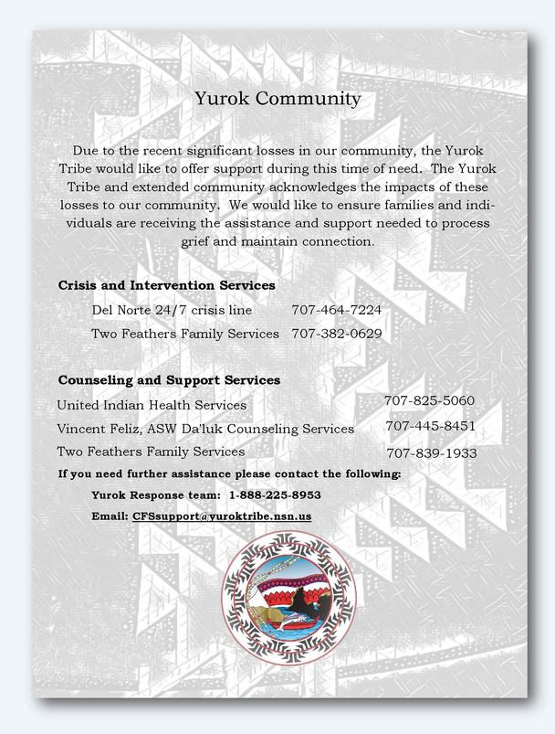 Yurok Tribe Community Grief Response