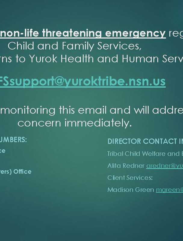 YHHS Non-Emergency Support