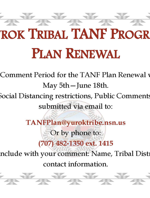 Yurok Tribal TANF Program Plan Renewal