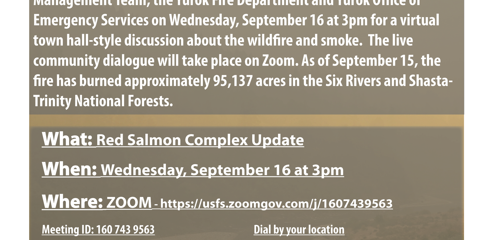Red Salmon Complex Update - Town Hall