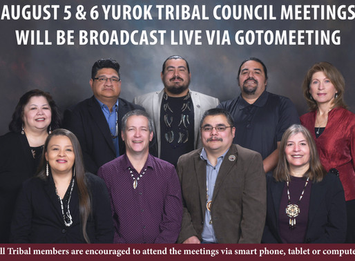 Yurok Tribal Council Meetings Will be Broadcast Live August 5th & 6th Via GoToMeeting