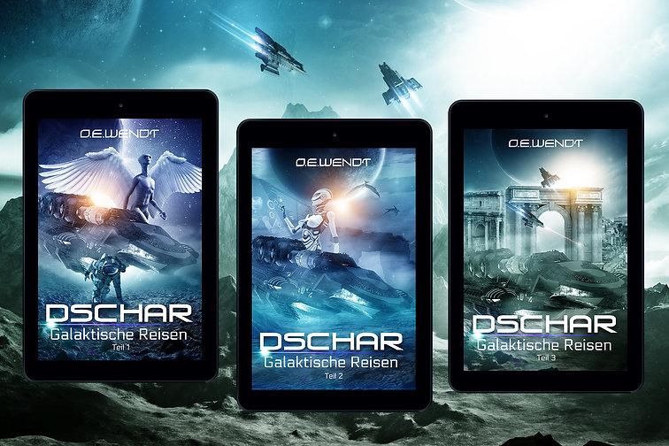 Die Dschar-Trilogie – Spaceopera in drei Teilen