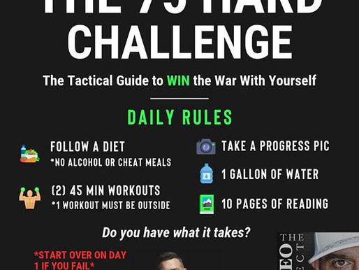 Day 1 - #75 Hard - Win the war with yourself!