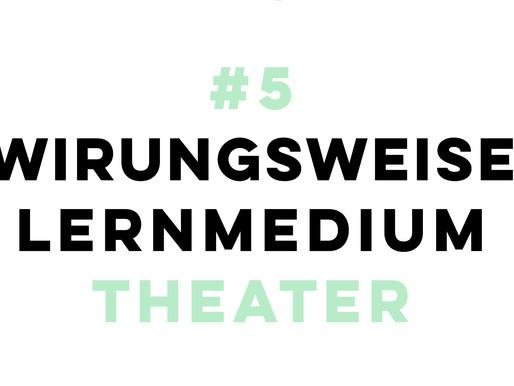 """Wie wirkt das Lernmedium """"Theater"""" auf mich?"""