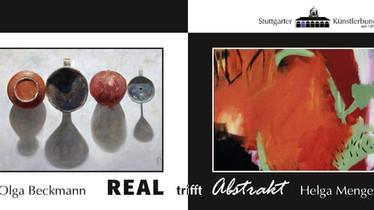 """Ausstellung """"Real trifft Abstrakt"""" von Olga Beckmann und Helga Menger"""