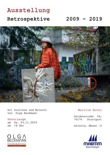 Ausstellung Retrospektive 2009-2019 von Olga Beckmann