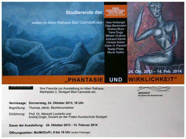 """Ausstellung """"Phantasie und Wirklichkeit"""" im Alten Rathaus Stuttgart Bad Canastatt"""