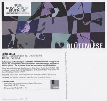 Ausstellung Blütenlese im Finanzgericht / Landesgericht Galerie Stuttgart
