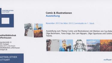 Ausstellung Stadtbibliothek Stuttgart-Zuffenhausen                                   November 2012-M