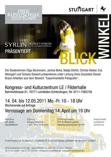 Ausstellung  im Kongress und  Kulturzentrum  LE / Filderhalle, Filderstadt     14.04.2011-12.05.2011