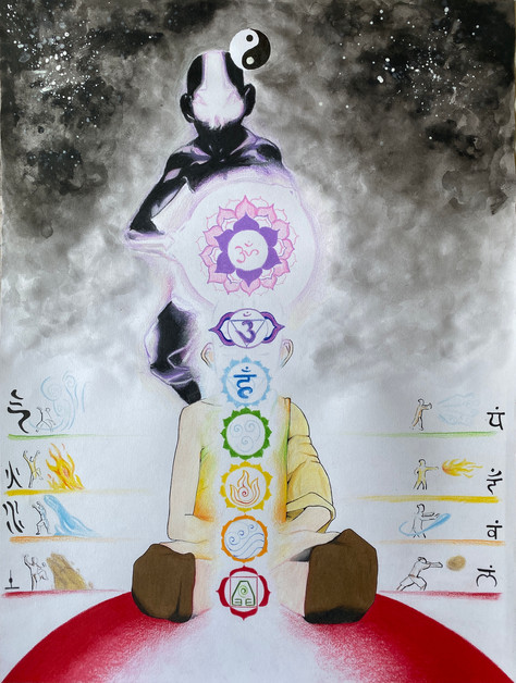 Avatar Aang, the Central Channel, the Four Elements, and the Higher Self